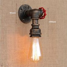 купить LEDream hot AC90-265V free edison bulb loft e27 Industrial iron Water pipe retro wall lamp  lights for bar hotel home decoration по цене 976.97 рублей