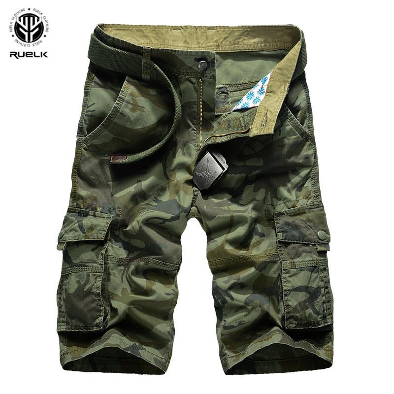 RUELK Cargo   Shorts   Men Camouflage Summer Hot Sale Cotton Casual Men   Short   Pants Brand Clothing Comfortable Camo Men Cargo   Shorts