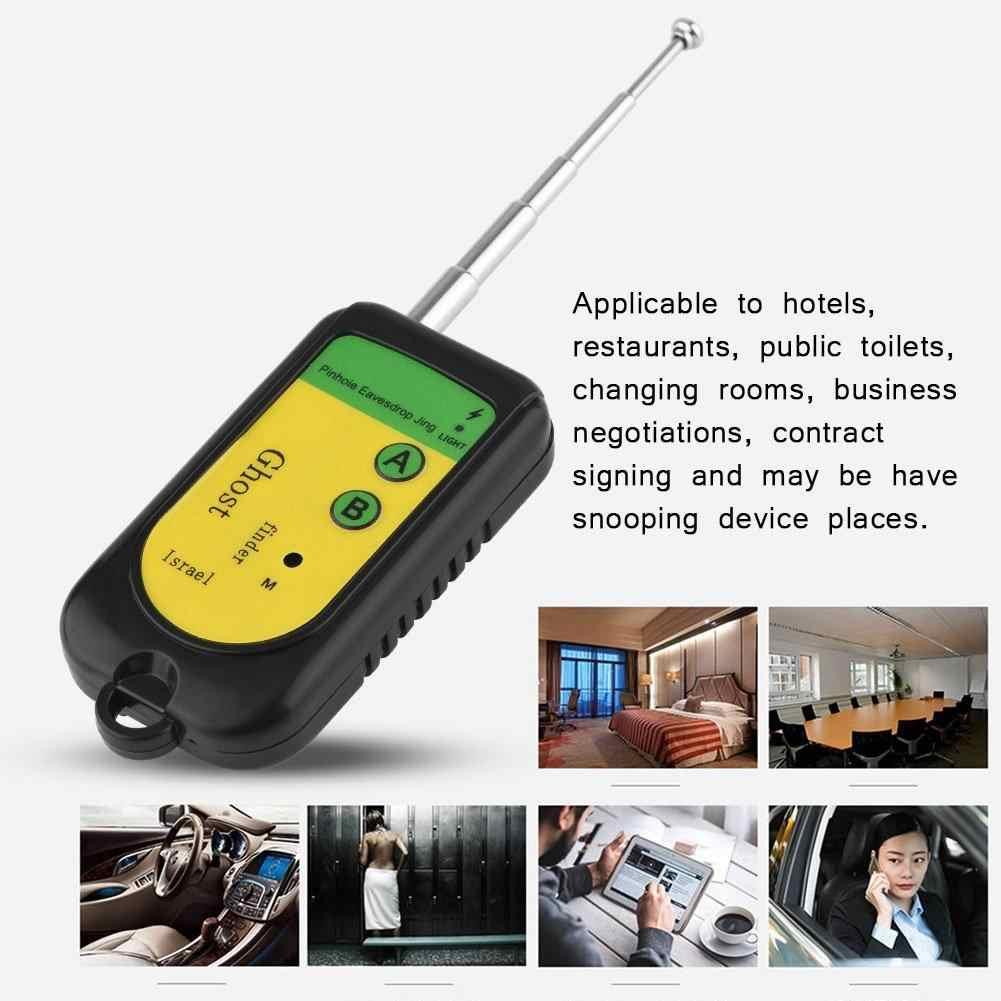 مستكشف إشارة لاسلكية بلاستيكية للكشف عن مكافحة التجسس مكتشف الكاميرا لمطعم الفندق 100-2400Mhz