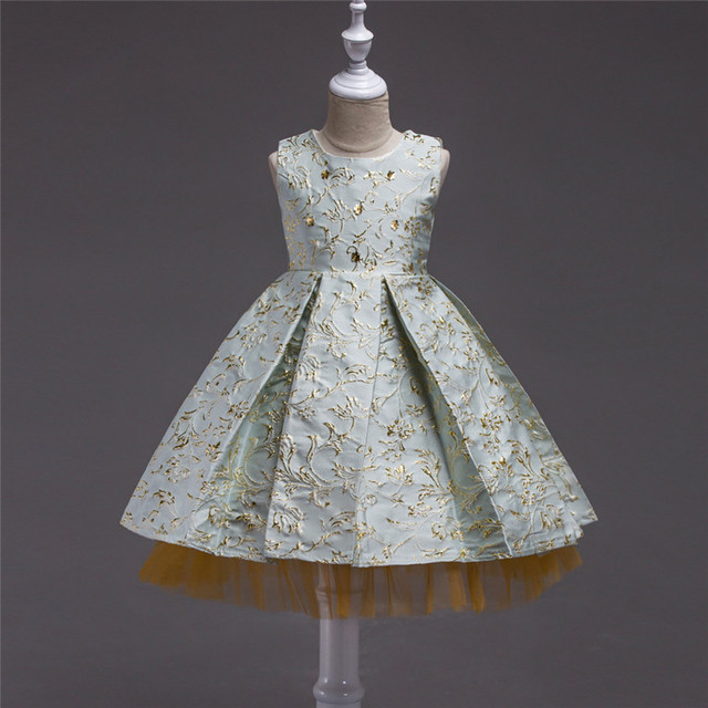 07b1f07b052f3 Filles robes pour soirée et mariage adolescent enfants vêtements 12 ans  haute qualité maille princesse reconstitution