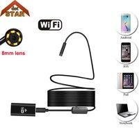 USB Endoskop Kamera HD IP67 Tüp Endoskop Kablosuz Wifi Borescope Video Muayene için Android/iOS