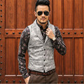 New Arrival Brand Men Sleeveless Jacket Winter Male Casual PU Leather Vest Thick Leather Slim Men's Vest Waistcoat  A2627