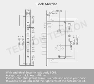 Image 5 - YRHAND Keyless Wireless fingerprint smart lock biometric lock, smart door lock home, Electronic Code Keypad Door Lock
