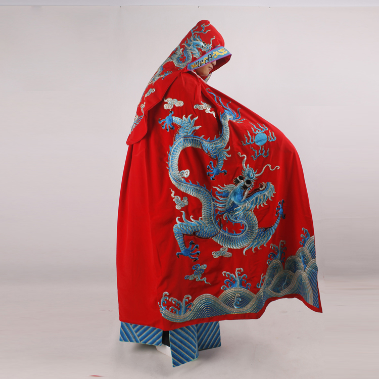 Embroidery Dragon Dramaturgic Peking emperor's mantle Costume China operas costume Carnival Chinese Beijing Opera Drama Cloak