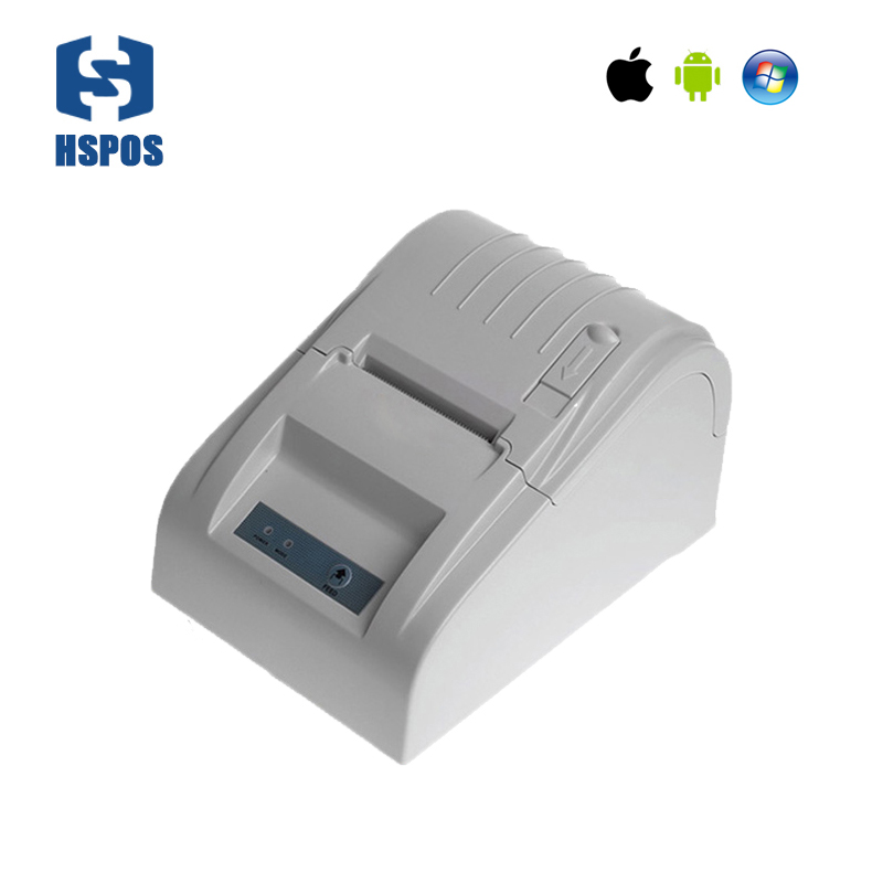 58mm bluetooth thermal pos receipt printer usb interface handheld bill machine for supermarket support Android and IOS HS-589TAI new hot thermal printer 5890t supermarket takeaway intelligent bluetooth food and beverage printer 90mm s 57 5 0 5mm 220v