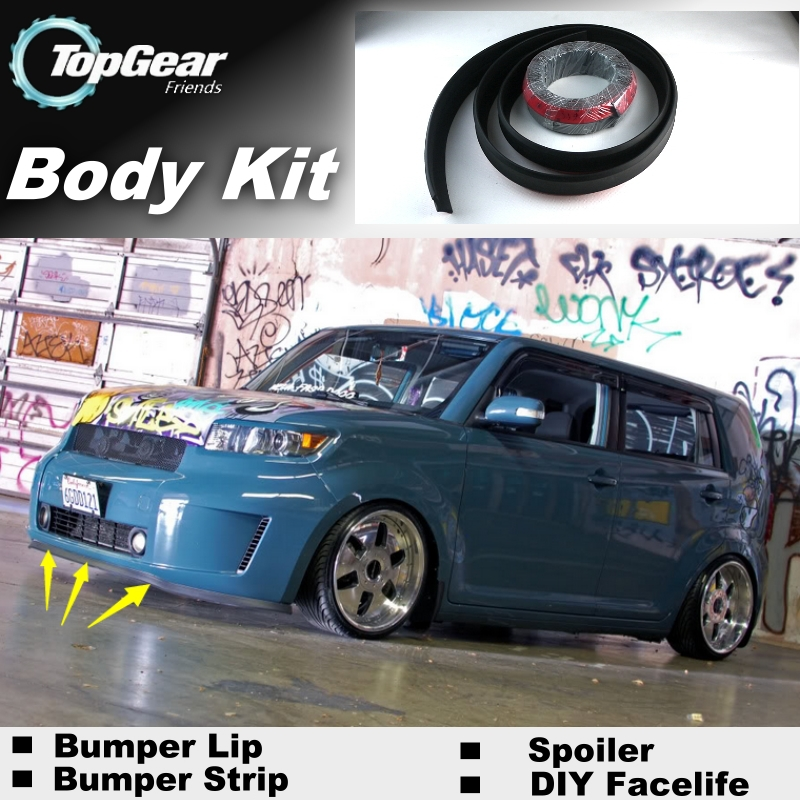 For TOYOTA bB For Daihatsu Coo Bumper Lip / Front Spoiler For TG Cars View Tuning / TOPGEAR Body Kit / Strip Skirt car window curtains legal