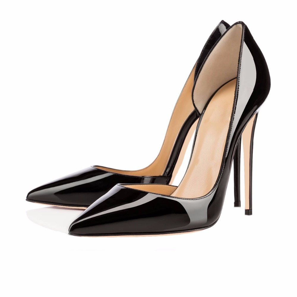 D Orsay Scarpin Two Piece Women Shoes Pumops Lady Elegant High Heels Dress  Wedding Shoes Pointed Toe Sapatos Femininos Size 45-in Women s Pumps from  Shoes ... d6596f67940d