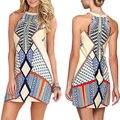 Envío Gratis Vintage vestido de Verano Ocasional de Las Mujeres Vestidos de Fiesta Retro Boho Túnica Rockabilly Vintage Dress Plus Size Vestidos Baratos