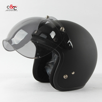 Free Shipping 3 Snap Open Face Helmet Visor Vintage Motorcycle Helmet Bubble Shield Visor Lens Glasses