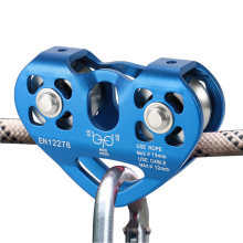 Lixada 30kN Cable Trolley Pulley with Ball Bearing Outdoor Rock Ice Climbing Accessories Caving Rescue Aluminum Alloy Pulley