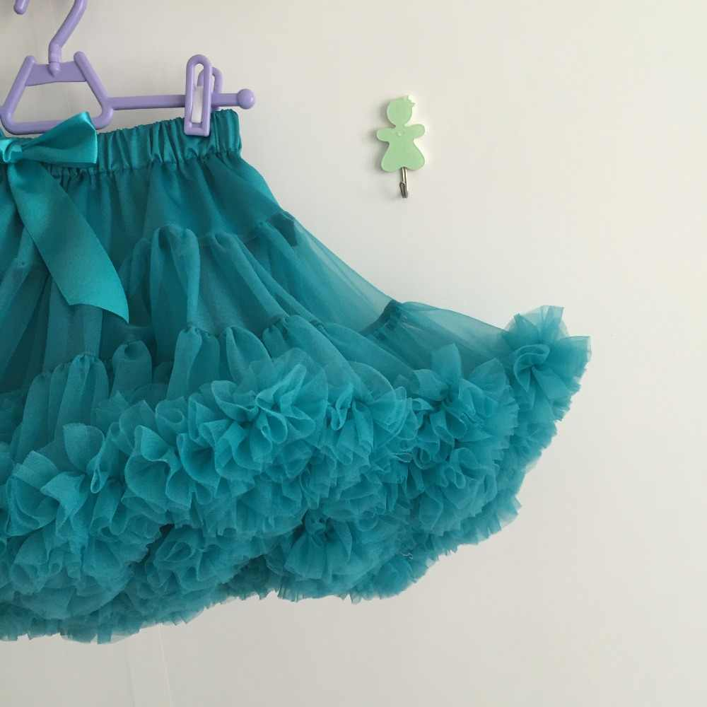 6ac9073e731f3 ... Children's Boutique Clothing Toddler Girls teal color Fluffy Skirt  puffy tulle teal skirts girls tutus ...