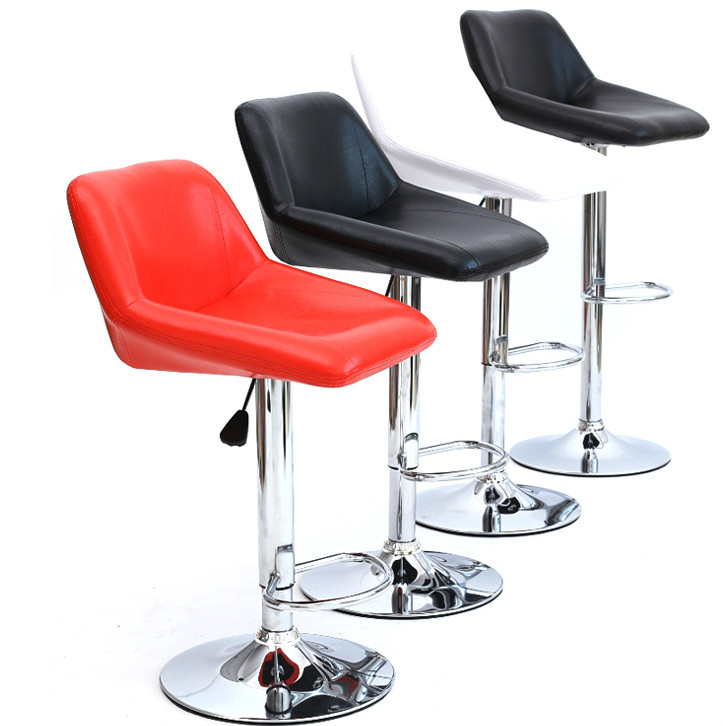 Simple Design Ergonomic Lifting Swivel Bar Chair Rotating Adjustable Height Pub Bar Stool Chair High Density Sponge cadeira new office chair hairdressing bar chair simple design swivel lifitng stool adjustable height high quality pu material backrest