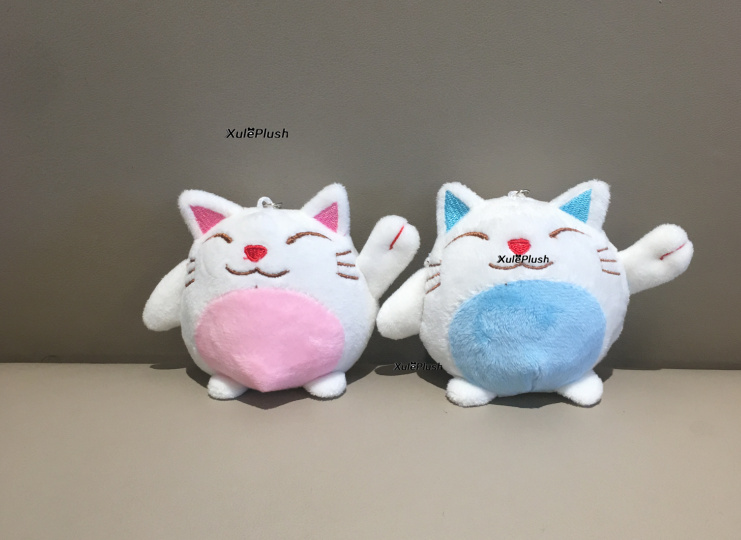 10pcs – mix colors small cute 10CM Cat In Banana Plush Stuffed TOY Doll , Kid's Party Gift Plush Toy Doll