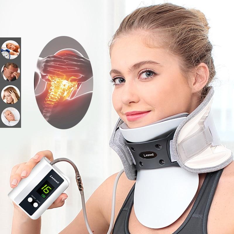 Medyczne szyi urządzenie trakcyjne spondylozy szyjnej orteza na szyi z nadmuchiwane wsparcie inteligentne sterowanie Stretch naprawić po korektor w Szelki i korektory postawy od Uroda i zdrowie na  Grupa 1