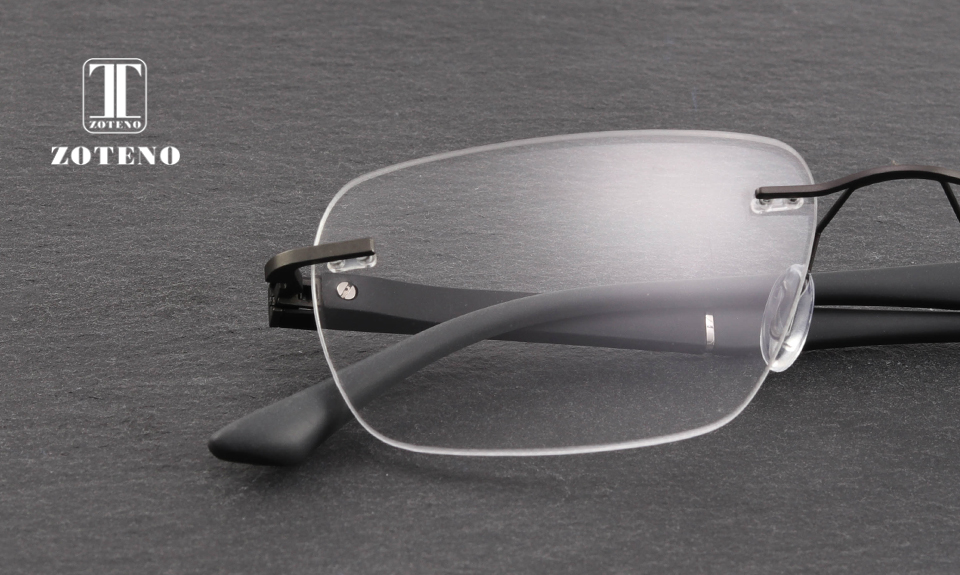 Gafas graduadas sin montura para hombre lentes graduales ... 690f9b94d5