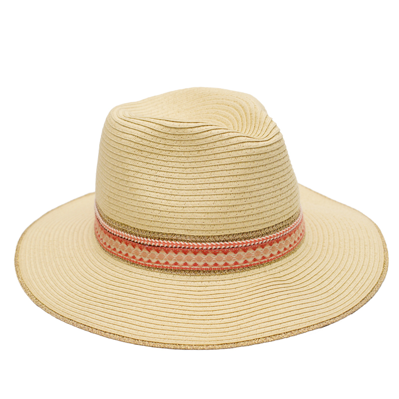 455531f4bf50 Muchique Women's Summer Sun Hat with Wide Brim Metallic Panama Fedora Paper  Straw Hat with Chic Style-in Sun Hats from Apparel Accessories on  Aliexpress.com ...