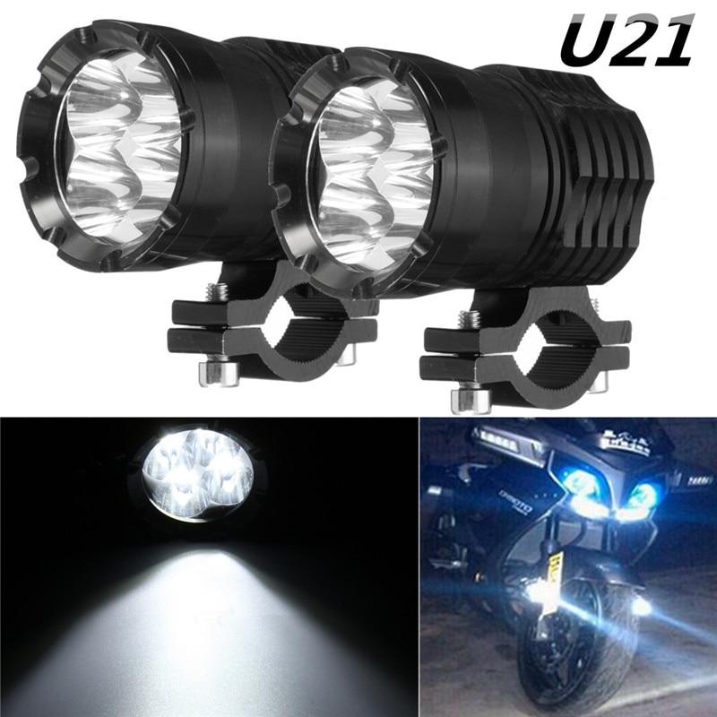 2Pcs 40W U21 Driving Fog Head Light LED Headlight Work Spot Driving Light Fog Driving Head Lamp For BMW Motorcycle SUV ATV UTV