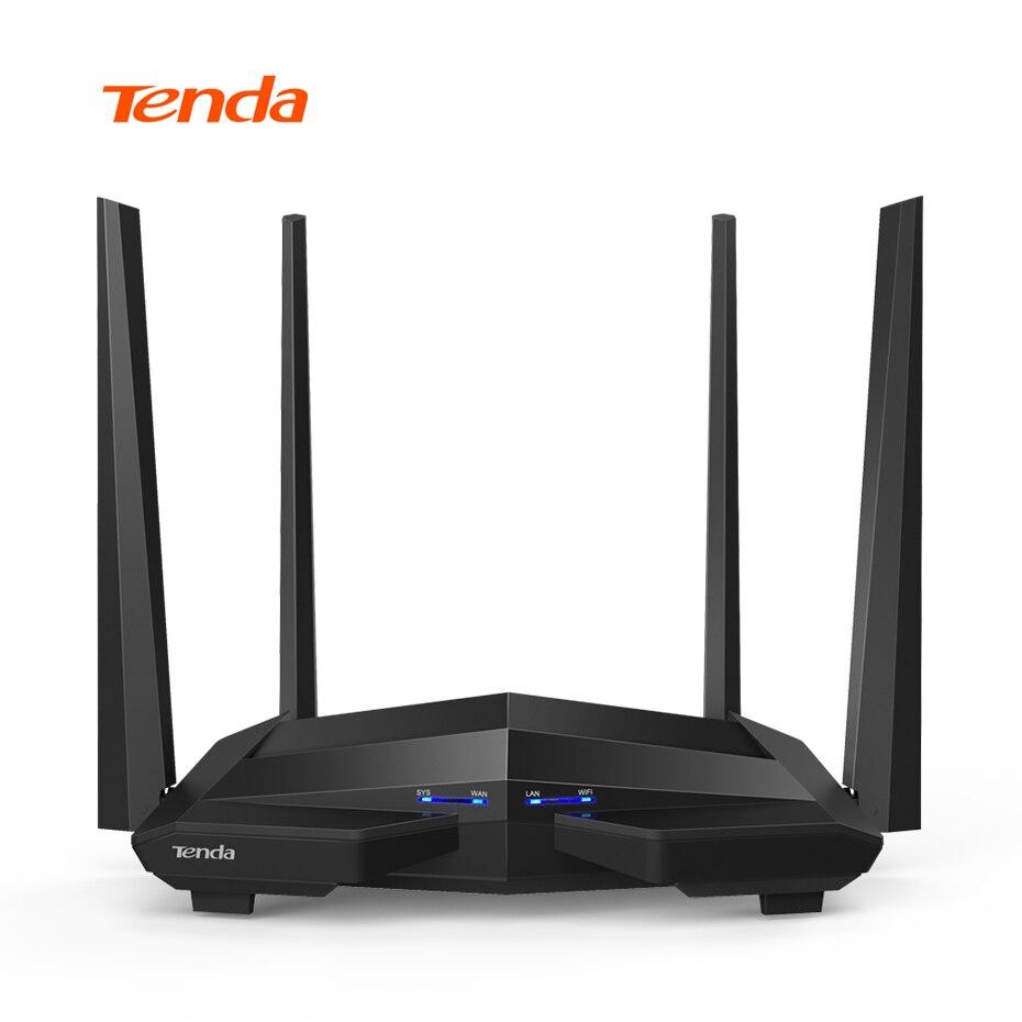 Tenda AC10 1200 Mbps Sans Fil WiFi Routeur, 1 GHz CPU 2.4G/5G Routeur, 1WAN + 3LAN Gigabit Ports Répéteur, 4 * 5dBi Antennes UE/US Plug