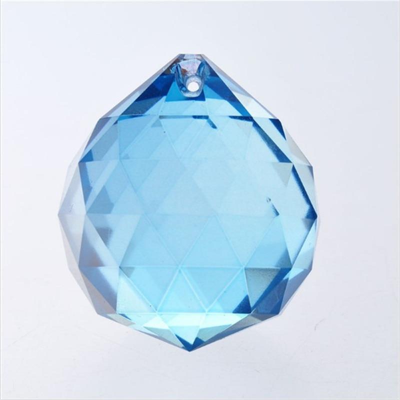 Bright Aquamarine 5pcs 40mm Crystal Balls Chandelier Balls For Crystal Lighting Chandelier Home Wedding Decoration Parts