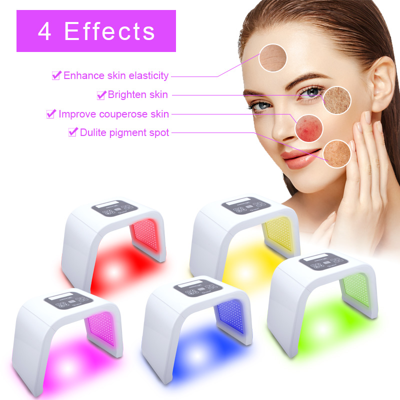 5 Color PDT LED Light Skin Care Rejuvenation Photon Machine For Skin Rejuvenation Acne Remover Anti-wrinkle Facial Body