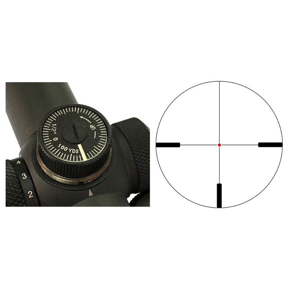 Vector Optics Forester 1-5x24 Hunting Riflescope 100mm Long Eye Relief Rifle Scope High Clear Illuminated Dot Reticle
