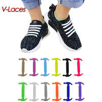 Wholesale 80sets Creative Silicone Shoelaces 16pcs/lot men Women No-Tie Shoelaces Fashionable Elastic shoe Laces