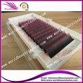 5 bandejas 0.15mm individual rosa Negro Caliente de dos tonos de color falso extensión de la pestaña envío gratis
