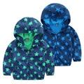 Бесплатная доставка 2017 весна осень ребенок Куртки Casaco Infantil Menina Мальчик с A Капот Ребенок Плюс Бархат Молния Верхняя Одежда