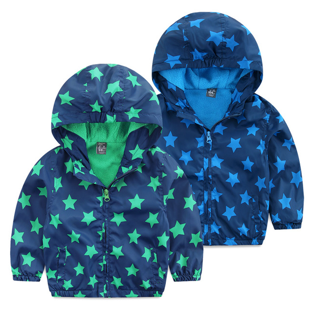 Free shipping 2017 spring autumn child Jackets Casaco Infantil Menina Baby Boy with A Hood Child Plus Velvet Zipper Outerwear