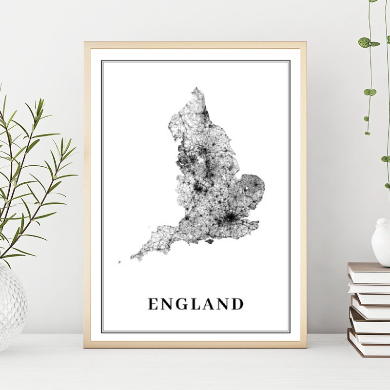 US $2.57 30% OFF|England Road Map Poster Prints UK United Kingdom Britain  London Map Wall Art Canvas Painting Nordic Picture Office Wall Decor-in ...