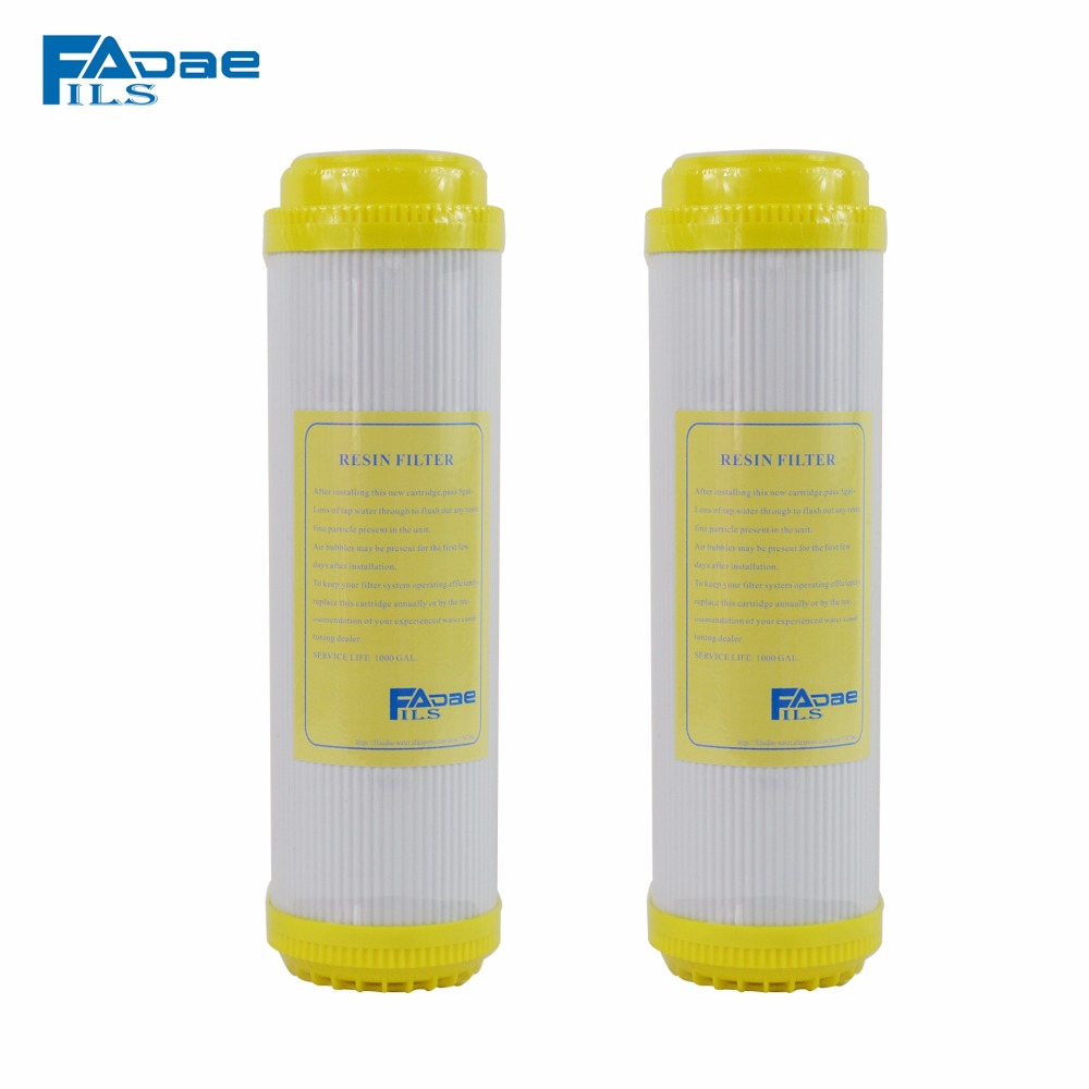 Water Filter Softening Cartridges 10in.  Ion Exchange Resin Filter, remove calcium and magnesium ions from water - Pack of 2 genuine 2 boxes tien nutrient super calcium tien s super calcium