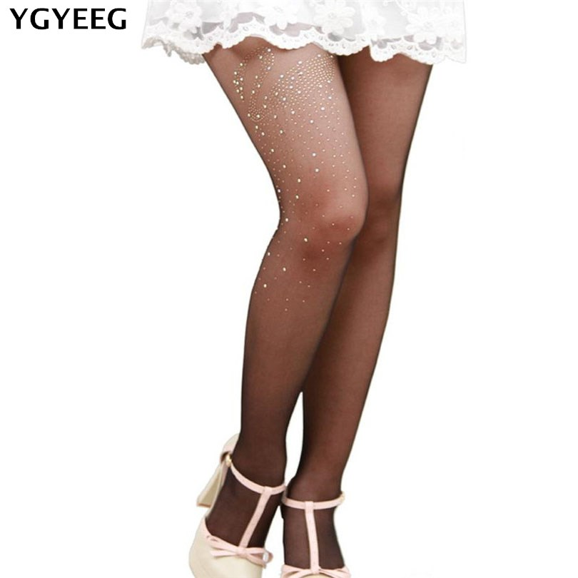 YGYEEG 2018 Pantyhose Women Autumn Spring Tights Candy Color 15 D Velvet Crystal Pantyhose Pure Color Absorb Sweat Deodorization