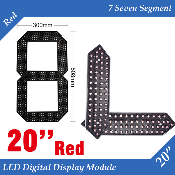 10pcs/lot 20 Red Color Outdoor 7 Seven Segment LED Digital Number Module for Gas Price LED Display module 10pcs/lot 20 Red Color Outdoor 7 Seven Segment LED Digital Number Module for Gas Price LED Display module