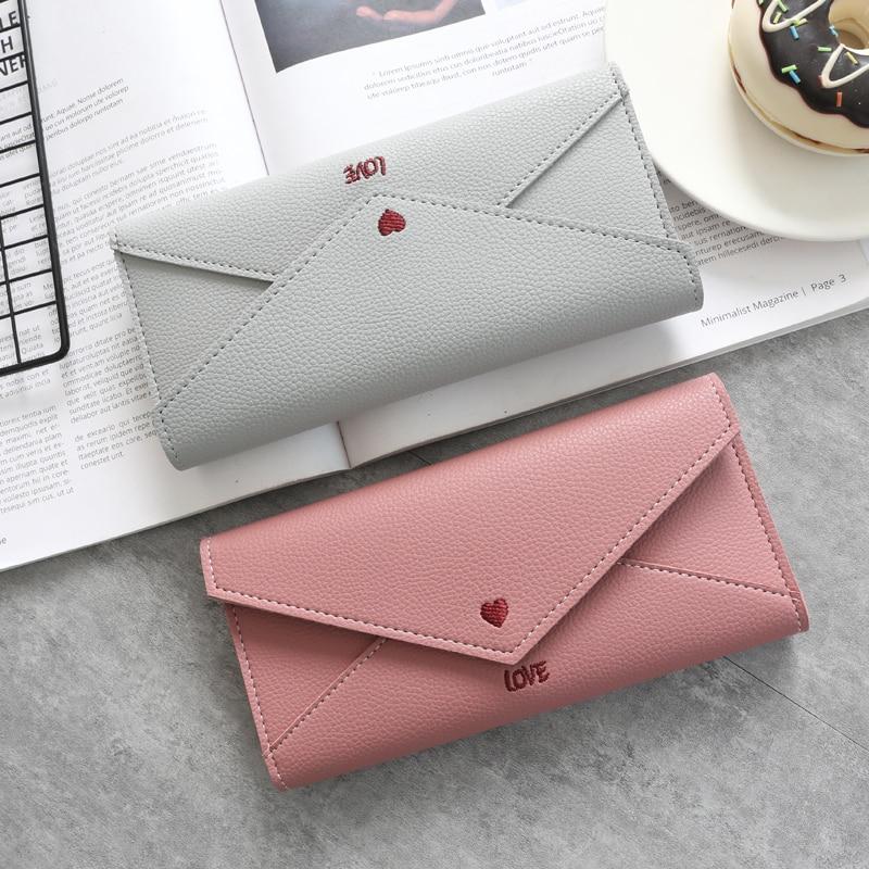 0ab706cf070c Women Wallets Fashion Leather Wallet Female Purse Women Clutch Long Wallets  Money Bag Ladies Card Holder Zipper Wristlet -in Wallets from Luggage &  Bags on ...