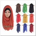 Lace hijab solid plain muslim scarf hijab fashion viscose cotton maxi shawls soft scarves women islamic head wraps bandana shawl