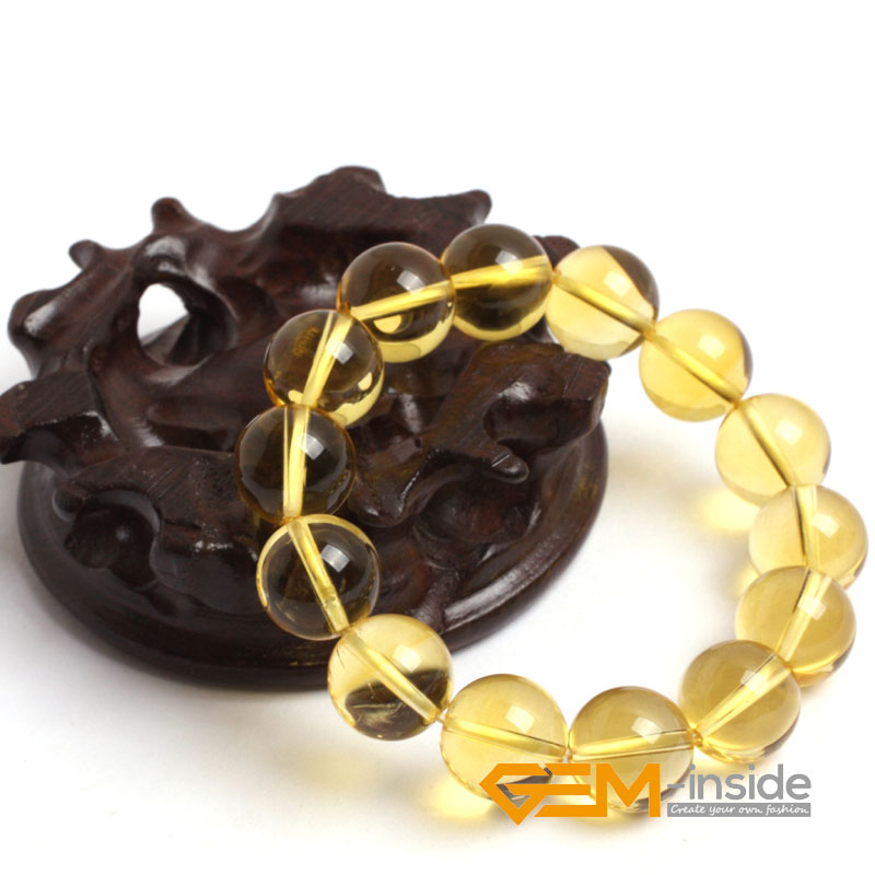 natural citrines bracelet natural stone bracelet DIY jewelry bracelet Lucky stone for Taurus, Gemini and Virgo free shipping