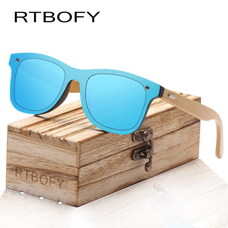 RTBOFY деревянные очки для Для женщин и Для мужчин бамбуковый каркас, очки ручной работы деревянные очки унисекс оттенки с бесплатной Bamboo пода... ...