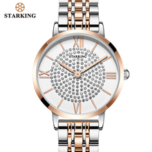 STARKING Luxury Brand Watch Bracelet Diamond Women Watches Quartz Clock Stainless Steel Analog Wristwatch Gifts for wife relogio