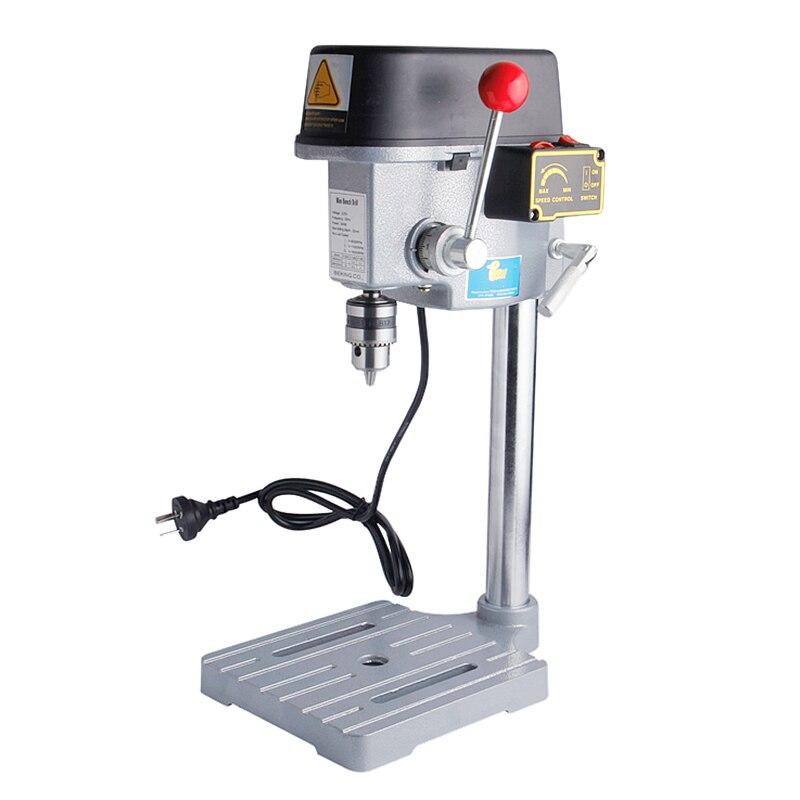 Ad alta Velocità di Perforazione Mini Macchina 340 W Macchina Panchina Tabella Bit di Foratura Mandrino 1-10mm Per Legno Metallo Utensili elettrici