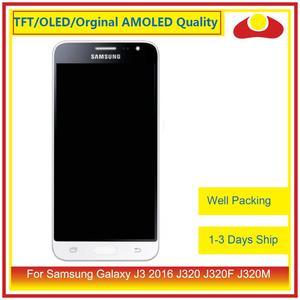 Image 1 - 50 шт./лот DHL для Samsung Galaxy J3 2016 J320F J320M J320 ЖК дисплей с сенсорным экраном дигитайзер панель J320 сборка полная
