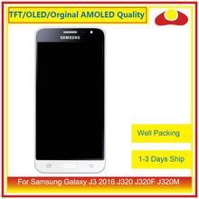 50 adet/grup DHL Samsung Galaxy J3 2016 J320F J320M J320 lcd ekran Ile dokunmatik ekran digitizer Paneli J320 Meclisi Komple