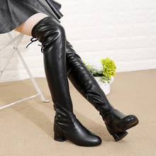 Girls Long Boots Winter Shoes for Girls Thigh High Boots Kids Winter Boots for Children Footwear Girl Black Leather Knee Boots стоимость