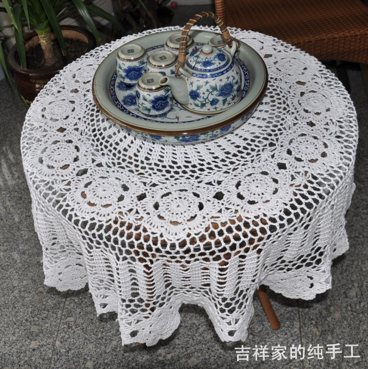 2016 New Design Crochet Lace Tablecloth Table Cover For Wedding Dining Decoration Cutout Flowers As Innovative Ite In Tablecloths From Home