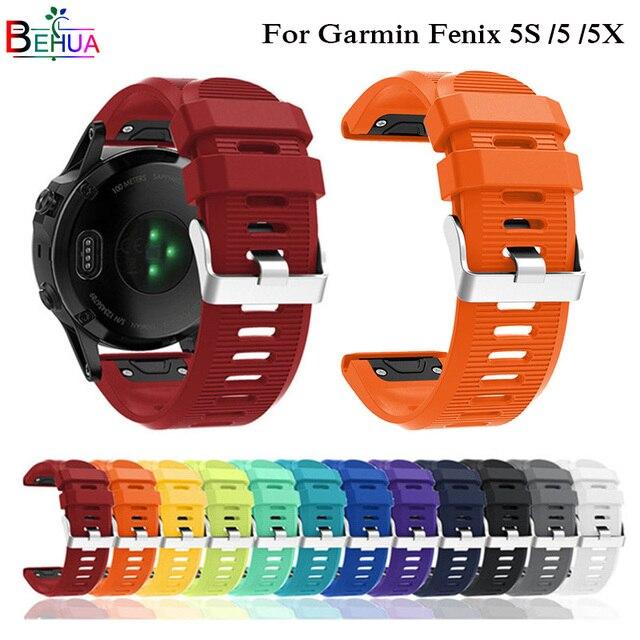 26 22 20MM Watchband for Garmin Fenix 5X 5 5S Plus 3 3HR Forerunner 935 Watch Qu