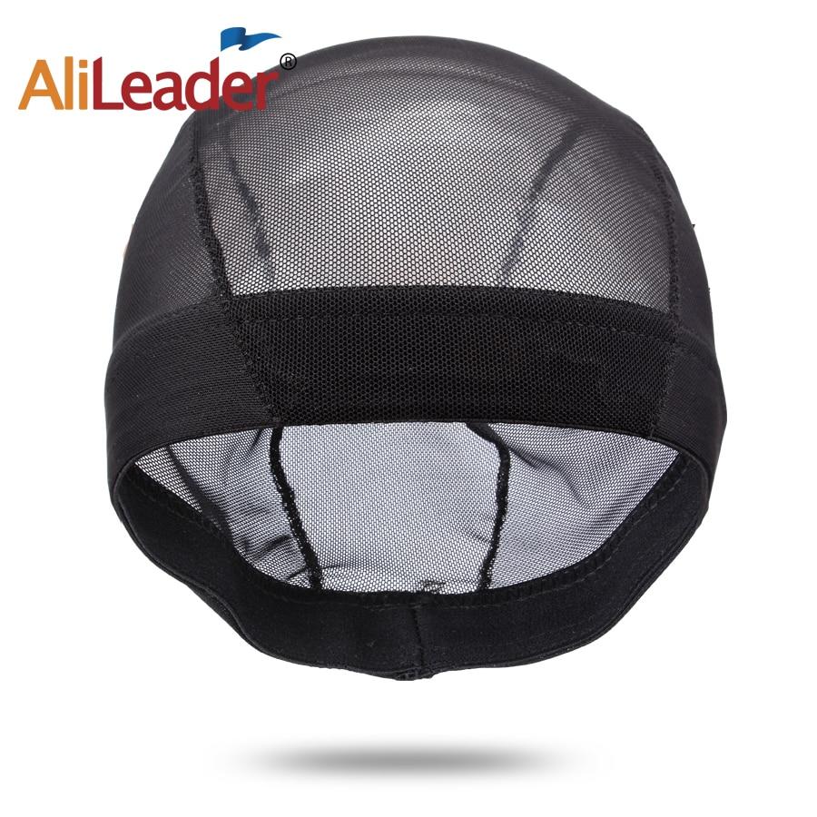 Hot Sell Black Wig Caps For Making Wig Spandex Net Elastic Dome Cap Glueless Wig Caps Breathable Mesh Cap Weaving Elastic Nylon