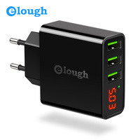 Elough 3 Port USB Charger Adapter For IPhone Samsung S8 Mobile Phone LED Display EU US