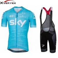 2018 Summer Short Sleeve Jersey And 9D Gel Pad Bib Shorts Kit Pro Team Racing Cycling