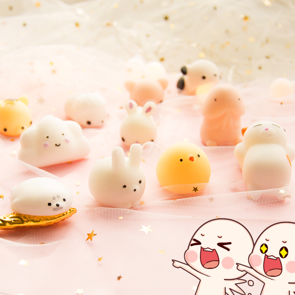 Mini Funny Squishy Toy Cute Animal Antistress Ball Squeeze Mochi Slow Rising Soft Sticky Cat Seal Pig Squishi Stress Relief Toy