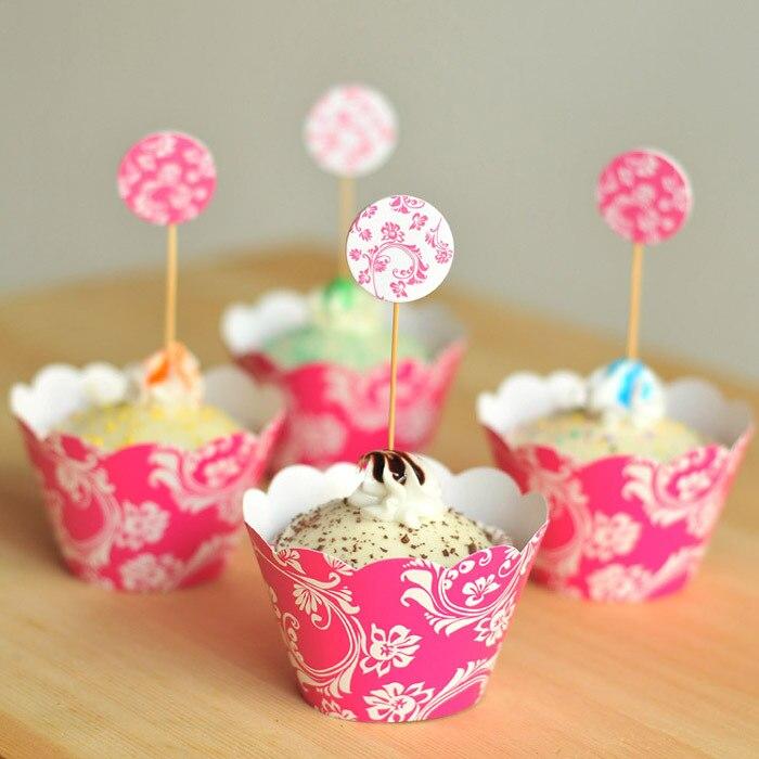 24pcsset plants princess cupcake wrappers topper pickskids