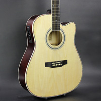 DIDUO 41 Inch Folk Guitar Acoustic Guitar with EQ Basswood Guitar Excellent Quality And Cheap Price Burlywood
